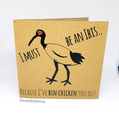 Bin Chicken (Ibis) Valentine's Card / Quirky / Funny / Pun Free Aus Shipping