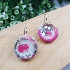 Super Sparkly Princess Glitter - Button Hook Dangle earrings - SMALL