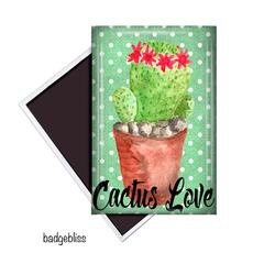 Cactus Love fridge magnet