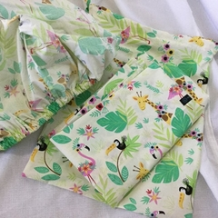 Kindy Sheet Set 'FLAMINGO & FRIENDS'