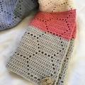 Cotton crochet baby blanket or lap blanket