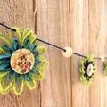 Flower Garland Hanging Decoration Jute Paper Twine Tropical Coastal Seaside