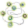 Flower Garland Hanging Decoration Jute Paper Twine Tropical Coastal Seaside