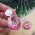 Super Sparkly Unicorn Donut Glitter - Circle Hook Dangle earrings