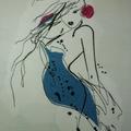 """Ladies Scoop Neck- Dolman Sleeve knit T-Shirt """"Ladies In Line"""" page 1/2"""