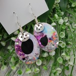 Super Sparkly Unicorn Glitter - Oval Hook Dangle earrings