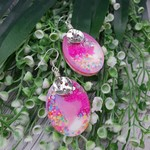 Super Sparkly 80s Glitter - Oval Hook Dangle earrings