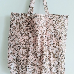 Foldable eco tote / PINK - MARBLE