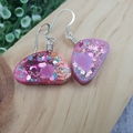 Sparkly Unicorn Glitter - organic Hook Dangle earrings