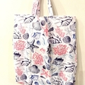 Foldable eco tote / WHITE - Beach