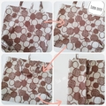 Foldable eco tote / BROWN - Castle / FREE SHIPPING