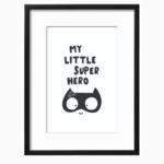 My Little Super Hero Girl Art Printable