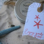 10 Starfish Gift Tags ~ Summer Gift tags ~ Enjoy your Day Tags ~ Holiday Tags