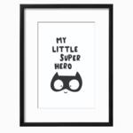 My Little Super Hero Boy Art Printable