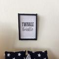 Dollhouse print , cute miniature wall decor. Framed print for dollhouse .