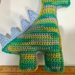 Dinosaur crochet rattle