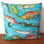 Vintage Retro Australian FISH Cushion