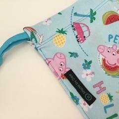 CUSTOM LISTING FOR VANESSA 'PEPPA PIG' Drawstring / Library / Sheet Bags