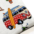Medium Pouch with Zip in Colourful Camping Fabric