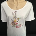 Ladies Scoop Neck- Dolman Sleeve knit T-Shirt