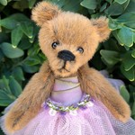 Eleanor - a miniature ballerina teddy bear,  collectible