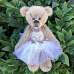 Violet - a miniature ballerina teddy bear,  collectible