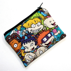 Small Coin Purse in Cartoon Fabric