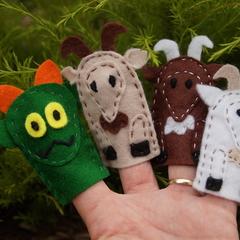 Billy Goat Gruff finger puppets