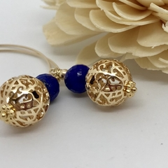 Blue Lapis Statement Earrings