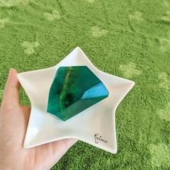 Gemstone Soap (Green Jasper Crystal) - Rock soap art