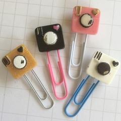 camera planner clip, old school camera planner clip, planner accessories, resin
