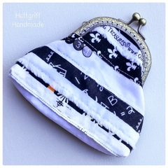 READY TO SHIP Back To School Monochrome  Coin Purse