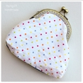 READY TO SHIP Rainbow Selvage Coin Purse