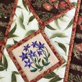 Australiana table runner - 'Royal Bluebell'