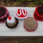 Crochet afternoon tea set