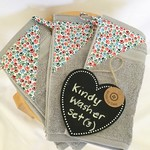 Kindy Hand Washers Set of 3 - GREY PAWS