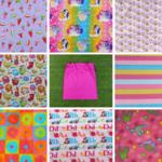 Girls large library bag, 8 fabrics, large kindy sheet bag, cotton drawstring