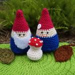 Crochet gnome duo
