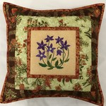 Australiana cushion cover - 'Royal Bluebell'