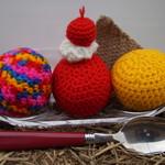 Crochet ice-cream set