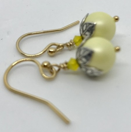 Swarovski  Yellow Pearls