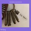 YOU ARE NEVER ALONE - antique bronze colour keyring - bag charm