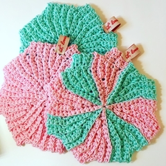 Eco Friendly Washcloth hand crochet in cotton