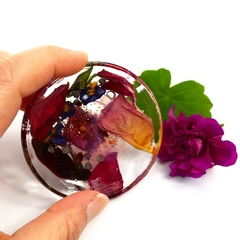 Resin Ring Dish Trinket Dish Rose Petals in Resin Handmade BlackwoodLily