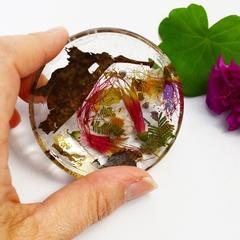 Resin Ring Dish Trinket Dish Australian Flowers in Resin Handmade BlackwoodLily