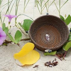 "Handwoven Pine Needle Spiritual Healing Basket ~ ""Central Australian Desert"""
