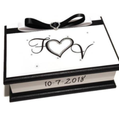 Wedding Wishes Keepsake Trinket Treasure Jewellery Memory Wooden Box