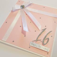 Elegant Soft Pink Birthday, Milestone Birthday, Happy Birthday,Personalised Card