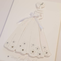 Elegant Bride Wedding Card, On Your Wedding Day Card, White on White