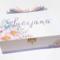 Pastel Spring Flowers Keepsake, Trinket, Jewellery, Memory, Wooden, Baby Box